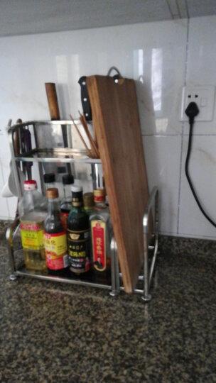 家佰利(jiabaili) 厨房收纳架 厨房置物架不锈钢刀架 调料架厨房用品 加厚款50长带砧板架 晒单图
