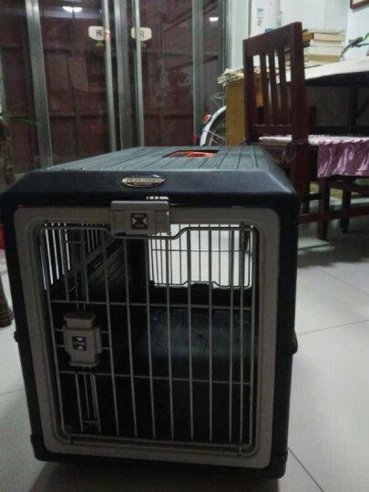 爱丽思(IRIS)宠物折叠航空箱 猫咪狗狗便携托运箱 猫狗外出箱子旅行箱运输笼子 黑色 FC-670(适合20kg以内宠物适用) 晒单图