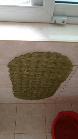 素雅特 鹅卵石浴室浴缸防滑地垫淋浴脚垫36*69cm 抹茶绿 晒单图