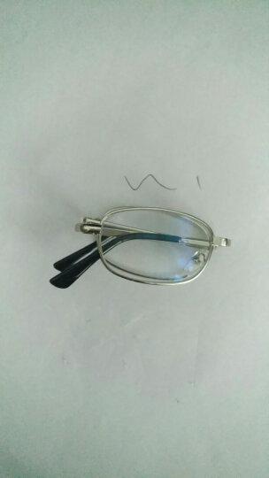 百尚意特 金属全框轻质便携折叠老花镜 远视镜 男女通用 非球面树脂高清镜片 200度 晒单图