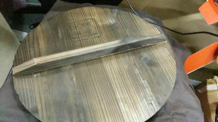 艾美仕加厚铸铁炒锅30cm氮化真不锈无涂层物理不粘耐磨健康炒锅燃气电磁炉通用木锅盖AZH3065 晒单图