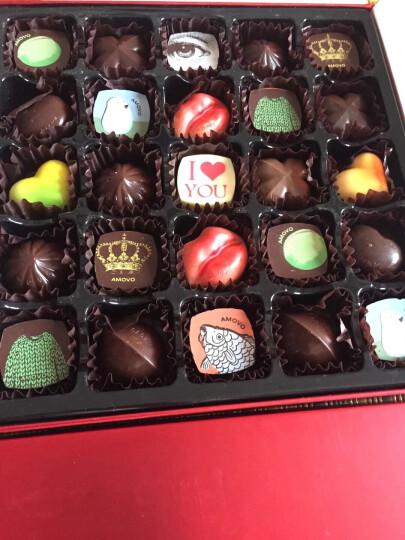 魔吻(AMOVO)纯可可脂手工巧克力礼盒 生日礼物七夕情人节送女友表白礼物顺 晒单图