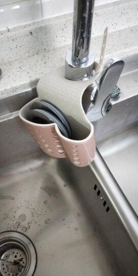 日本SP SAUCE 水槽收纳篮塑料沥水篮收纳挂篮厨房小用品厨具置物架收纳架沥水架 褐色 晒单图
