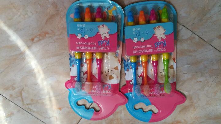 艾芭薇(Erbaviva) 儿童宝宝牙刷软毛护龈洁齿不伤牙龈6-12岁 4支装 晒单图