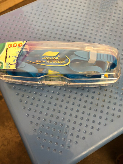 捷佳(JIEJIA) 儿童泳镜3件套装 游泳镜 儿童游泳训练装备男女童 蓝色泳镜+中号背漂+鼻夹 晒单图