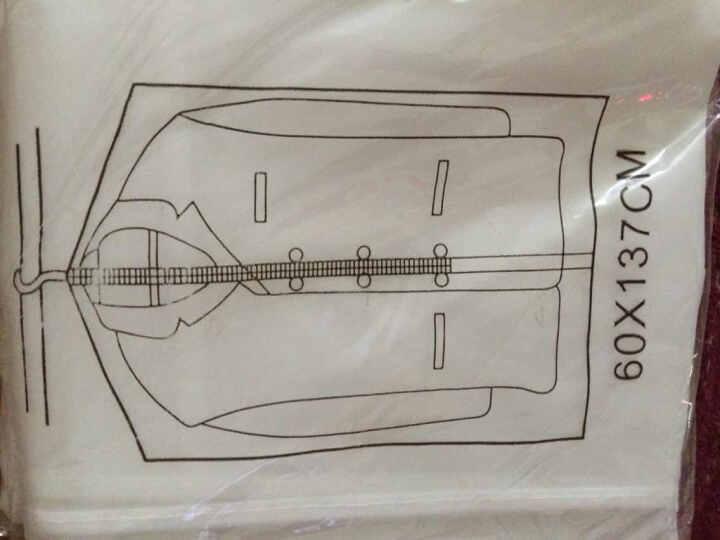 加厚透明防尘衣服收纳袋西装大衣罩挂衣袋套装 5只大号 晒单图