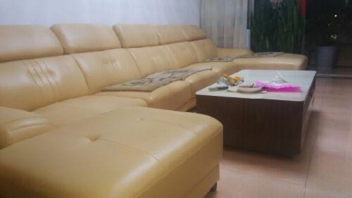 伊甸嘉园 真皮沙发头层牛皮客厅组合家具 现代简约大户型U型转角皮沙发 进口真皮 组合C 晒单图