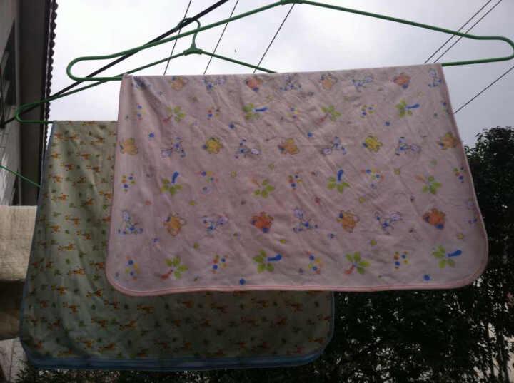 萌宝(Cutebaby) 婴儿新生儿法兰绒三层隔尿垫  防水透气 70*90 晒单图