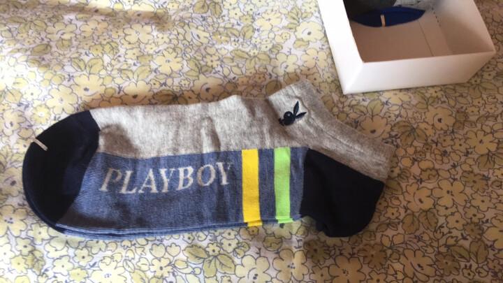花花公子男袜薄棉袜子后跟防滑隐形船袜5双装 混色 26-28cm 晒单图