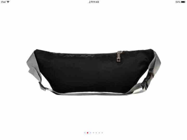 梵士汇(F4Y)JS1301腰包 男 运动户外骑行跑步腰包 健身隐形男女单肩胸包男女手机腰包黑色 晒单图