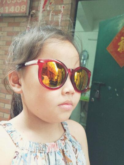 名客(Mincl)透明框箭头款墨镜女潮款太阳镜复古圆太阳眼镜同款28050 透明红金红片 晒单图