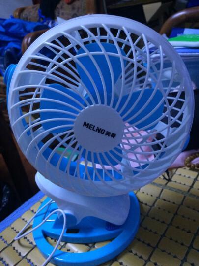 美菱(MeiLing)迷你电风扇/台扇/家用办公风扇 【MFST-142UM】亮蓝款 晒单图