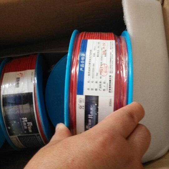 远东电缆(FAR EAST CABLE)BV2.5平方国标家装插座用单芯单股铜芯电线100米 红色火线 晒单图