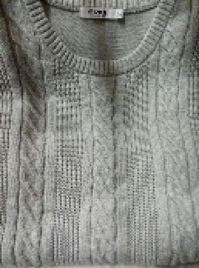 鸿星尔克(ERKE)男装圆领针织线衣男士时尚休闲长袖上衣 正黑 L 晒单图