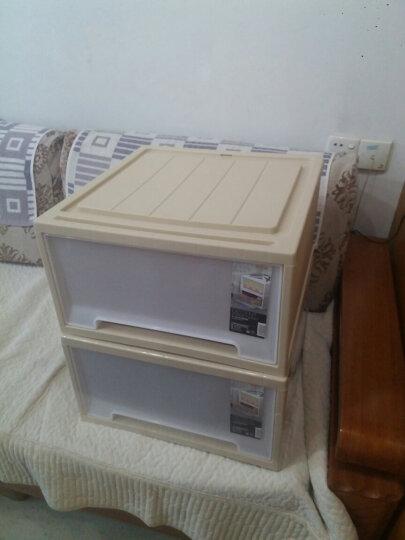 禧天龙Citylong 塑料收纳柜抽屉式单层可组合儿童衣物玩具储物柜抽屉柜2个装明橙35L 5052 晒单图