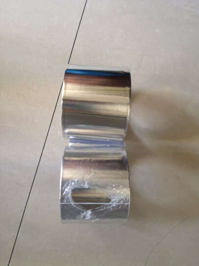 珂诺雅 铝箔胶带铝箔胶纸锡箔纸铝泊锡纸铝铂胶带铝铂纸耐高温胶带 8CM宽铝铂胶带 晒单图