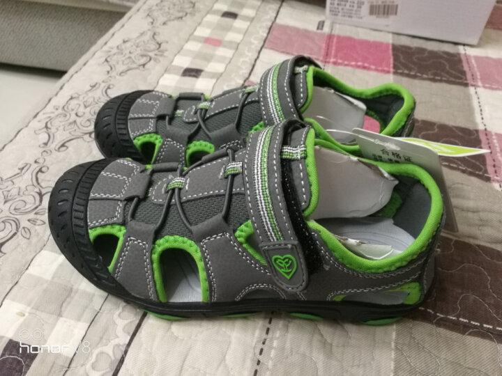 彼得·潘 Beedpan 儿童凉鞋夏季新款包头男童凉鞋P337深蓝橘30码 晒单图