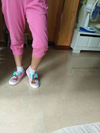 女童帆布鞋春秋季儿童鞋子女孩布鞋公主鞋一脚蹬休闲鞋小学生板鞋2018 深蓝色 35码/内长21.5cm 晒单图