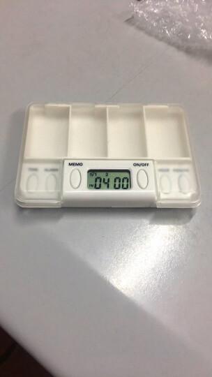 Vilscijon维简智能服药提醒器四格电子定时小药盒子便携式老人吃药分药盒含切药器 8217 晒单图