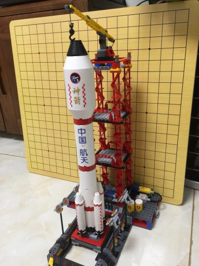 古迪积木航天火箭飞机宇宙飞船模型拼装玩具儿童益智拼插积木兼容乐高男孩生日礼物 双子星护卫舰送2闪灯+1拆件器 晒单图