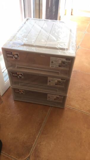 【3件7折】稻草熊抽屉式收纳柜透明塑料收纳箱衣柜储物箱衣物收纳盒儿童收纳整理箱衣柜收纳盒宝宝收纳 D4418(53*44*18cm)单个 晒单图