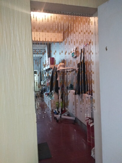 洛曼斯(LOMANSI) 水晶珠帘葫芦珠子成品水晶隔断挂帘 门帘 窗帘屏风门帘子客厅玄关 40根1.8米高 晒单图