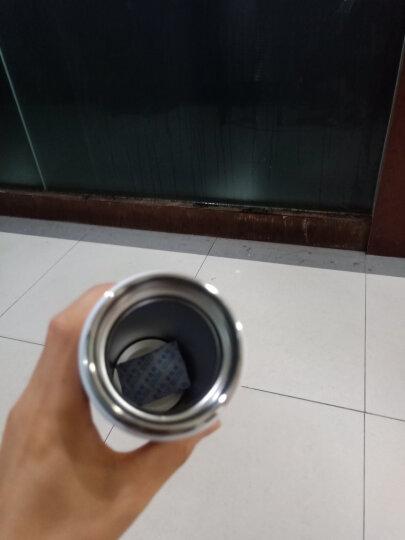 然也(RAE)480ml双层不锈钢保温杯壶泡茶汽车杯子 大容量男女士情侣学生商务车载办公水杯 白色R3056 晒单图