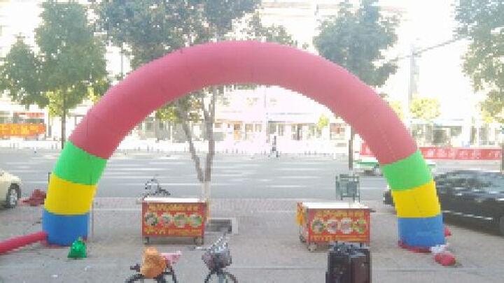 圣佰普通半圆拱门气模充气拱门彩虹门庆典用品 8米彩色+370W风机一个 晒单图