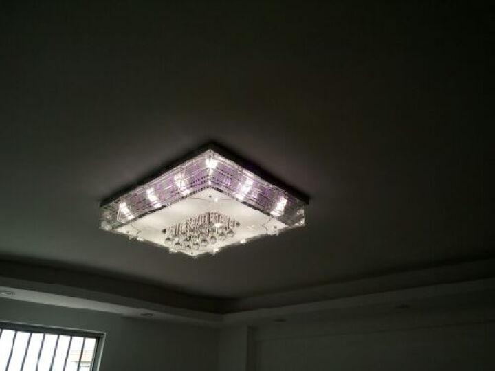 TCL 照明客厅LED水晶吸顶灯现代简约卧室灯长方形客厅灯具时尚水晶灯饰晶庭1007 双色LED 72W 遥控分段 90x70cm 25-40平方 晒单图