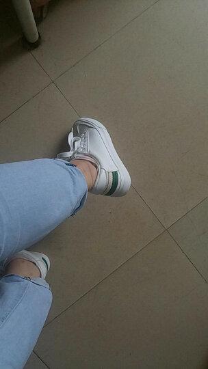 大东休闲鞋2018春季新款休闲平底系带圆头女鞋小白鞋DW18C7090A 绿色 37 晒单图