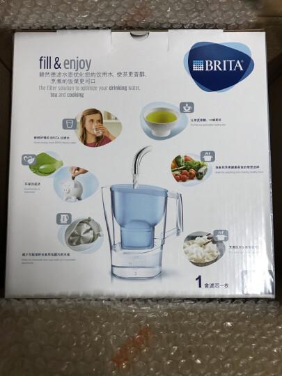 碧然德(BRITA) 过滤水壶 家用净水壶过滤水杯 净水器 光汐系列3.5L蓝+去水垢专家版滤芯3枚 晒单图