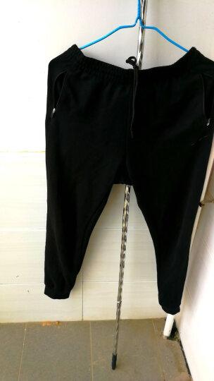 鸿星尔克ERKE 男针织长裤修身运动裤小脚收口休闲长裤 51217357057 正黑 L 晒单图