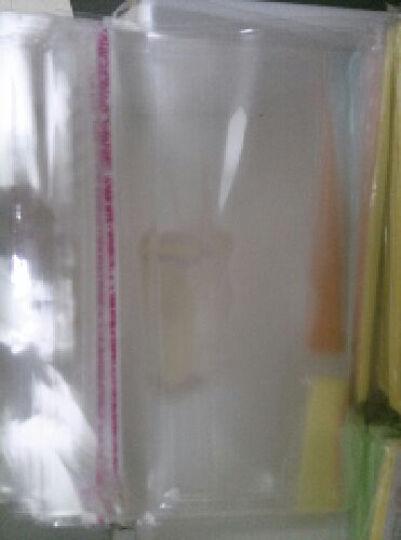 悦达给力 OPP袋子7丝加厚自粘塑料服装袋  不干胶透明包装袋磨砂旅行收纳袋 磨砂20丝1个装35*45cm 晒单图