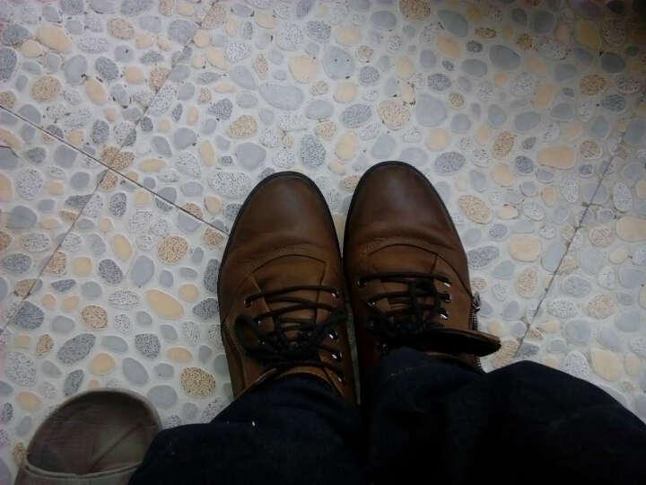 皓顿(HAUT TON)男靴马丁靴男时尚休闲鞋英伦中高帮靴子男 013黑色 40 晒单图