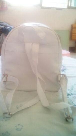 INZOOM双肩包女新款PU防水韩版潮流小背包学院风学生书包旅行背包子母包 白色三件套 晒单图