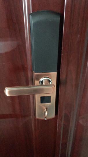 威恒指纹锁 智能锁 电子锁家用防盗门大门指纹密码锁门锁酒店锁 出租锁 光学古铜色+锁体+不包安装 晒单图