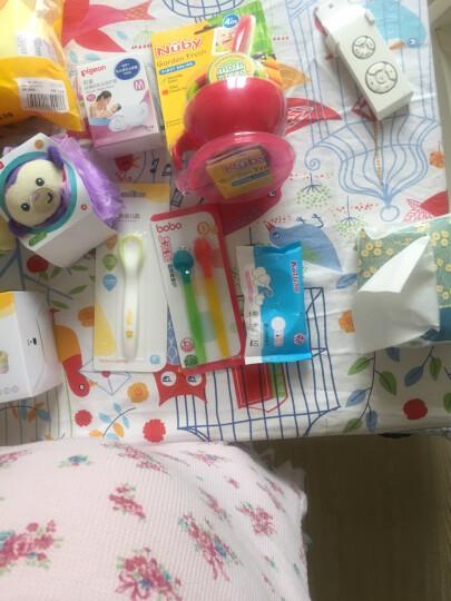 乐儿宝(bobo)勺子汤匙汤勺(研磨+喂食) 新生儿宝宝防烫研磨两用勺子儿童餐具 颜色随机 晒单图