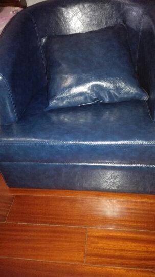 唐尊 单人沙发 布艺 懒人沙发椅 小户型实木皮沙发创意咖啡厅沙发 粉红色麻布 单人座 晒单图
