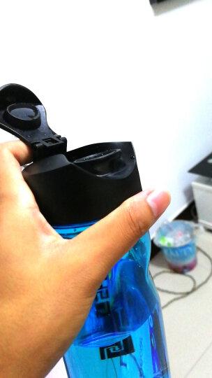 SHOKE 便携运动水杯男女健身旅行太空杯防漏透明学生杯子户外大容量水壶塑料随手杯 (700ML)冰点蓝 晒单图