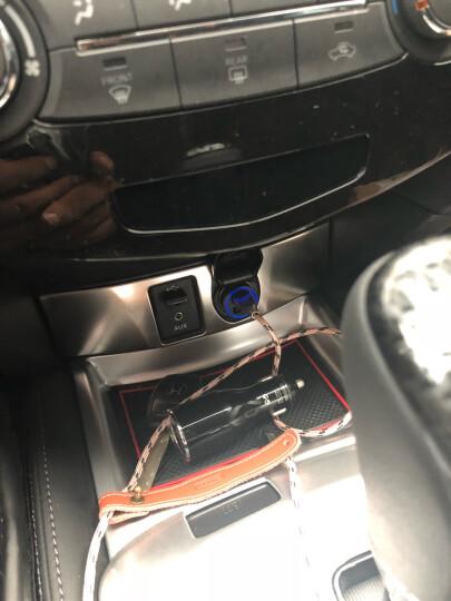 图拉斯【免邮限时达】汽车车载充电器 车充快充插头转换器USB点烟器一拖二苹果安卓手机平板通用4.8A 【金属迷你版】月光银★4.8A提速快充★车厢氛围灯 晒单图