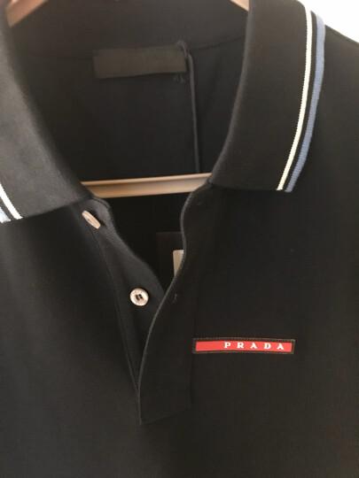 PRADA 普拉达 男士藏蓝色休闲短袖 POLO衫 SJJ887 322 F01AE L码 晒单图