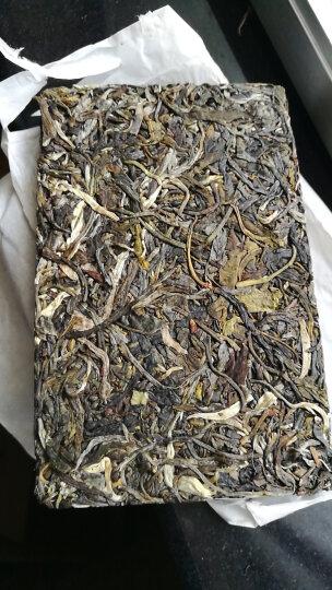 2018春茶 一古茶堂 大雪山古树茶砖4块/捆共1000g 普洱茶生茶 250克/片 晒单图