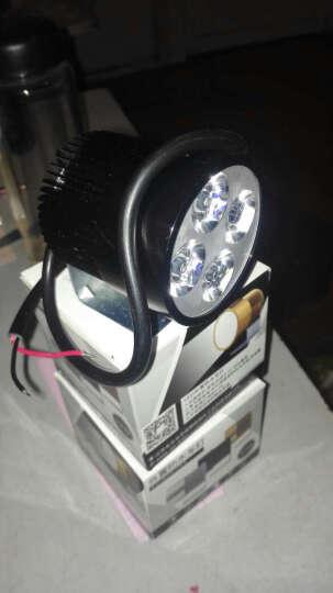 【买二送一】 电动车灯摩托车led改装大灯电瓶车LED射灯 四灯L支架银色 晒单图
