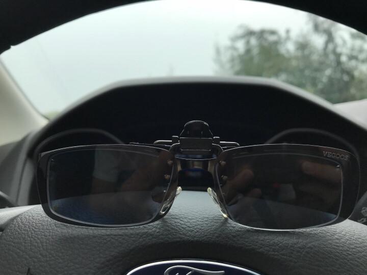 威古氏 眼镜夹片偏光太阳镜男女近视专用开车司机镜日夜两用驾驶墨镜夹片 3028 灰片小号 晒单图