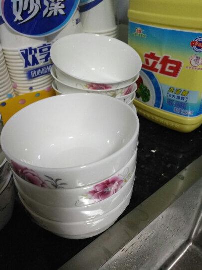 泥巴佬 陶瓷碗碟套装餐具套装鱼盘汤碗菜碟小勺盘子饭碗 陶瓷餐具的数量可以随心所欲的选择购买 富贵牡丹4.5寸碗1个 晒单图