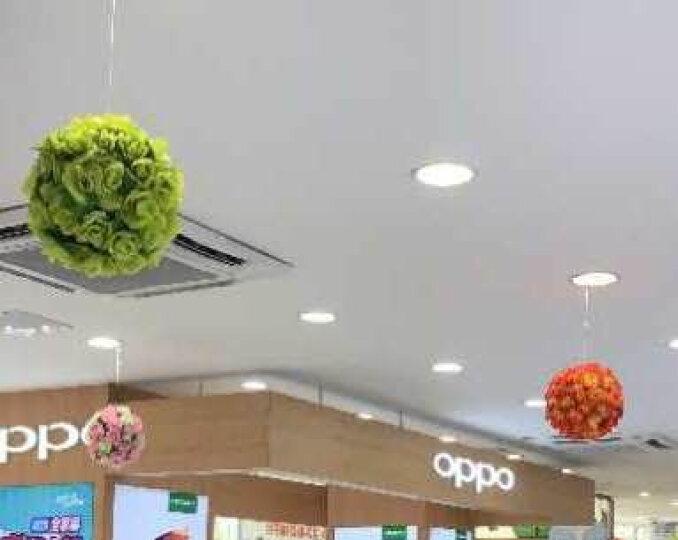 如一花开 加密玫瑰仿真花球工程装饰花艺塑料假花婚庆酒店商场布置挂饰吊顶 粉色20厘米 晒单图