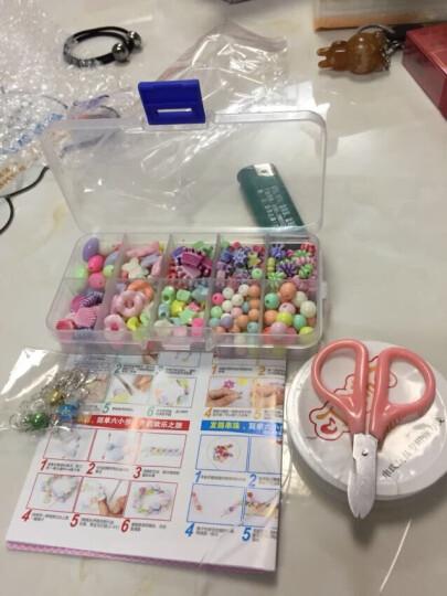 【苗娃儿】可爱布丁 玩具女孩串珠DIY手工3-6岁儿童生日礼物亲子益智彩色散珠编织手链玩具 七色彩虹24格约约720颗+23件工具 晒单图