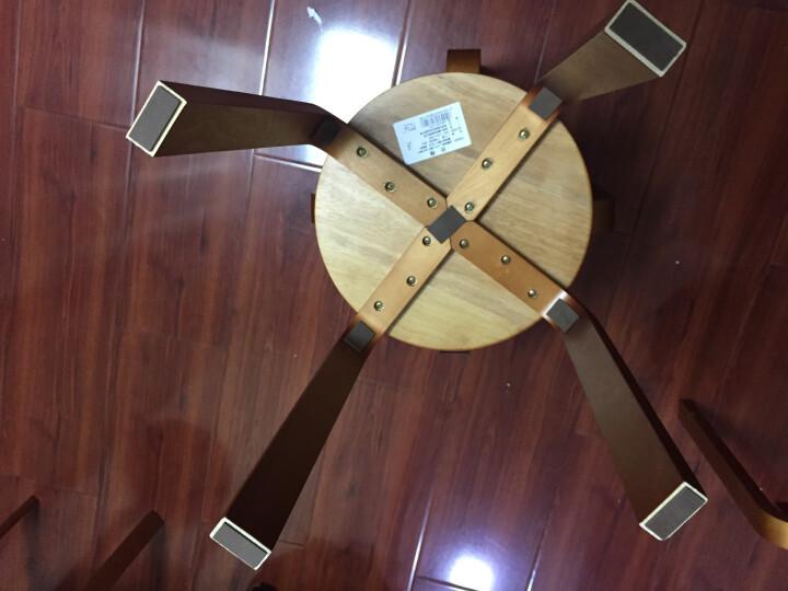 施豪特斯(SHTS) 凳子 实木圆凳板凳休闲椅子餐椅(四只)ST-9820 蜜糖色 晒单图