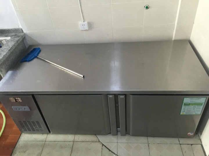 雪花(SNOWFLK)1.8m平冷操作台 商用厨房冰箱 多功能冷柜 冷藏冷冻冰柜 保鲜柜 1.8米冷藏冷冻 晒单图