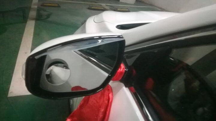 洛饰奇倒车小圆镜后视镜雨眉汽车倒车镜遮雨板晴雨挡反光镜遮雨挡广角镜高清无边360度可旋转去盲点 小圆镜一对,下单即送雨眉 晒单图